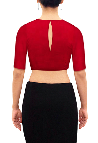 Red-silk-blouse